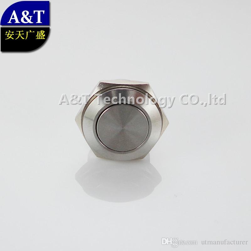 Açık / kapalı metal su geçirmez IP67 anti-vandal itme düğmesine Fabrika kaynağı minyatür CMP paslanmaz çelik 16mm 12v anlık, TÜV CE, 3A / 250V geçiş