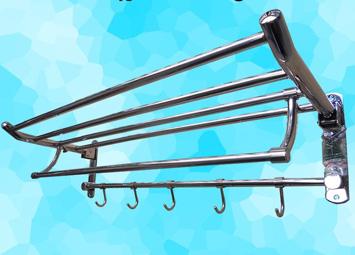 304# Stainless Steel Bathroom Shelves Mirror Silver Towel Rack Rust Proof  Collection Rack Eco Friendly Material Towel Shelf HC331B