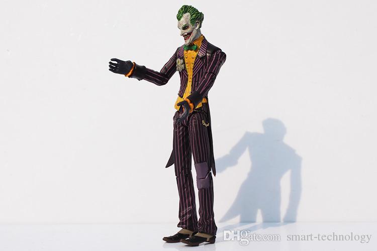 컬렉션 모델 약 17cm 조건을 이동 슈퍼 영웅 배트맨 조커 PVC 액션 피규어 공동 캔 100 % NEW