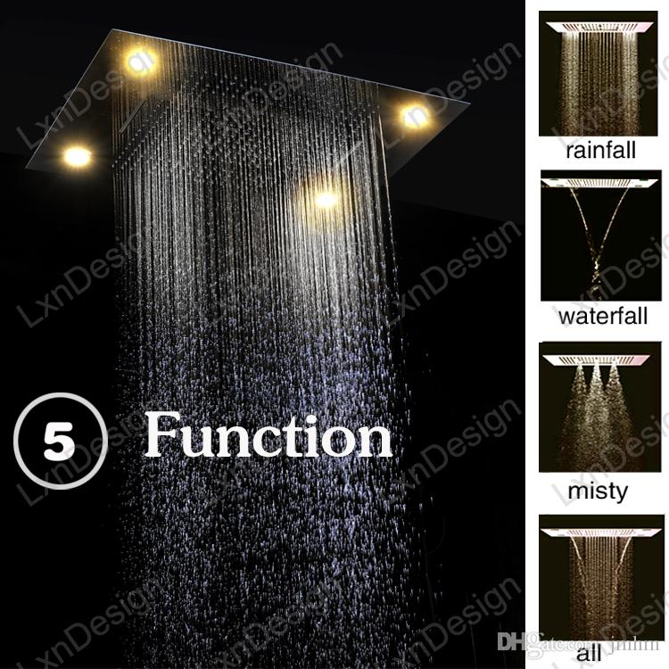 Discount Cheap 5 Function Rain Led Shower Heads Factory Price High Quality Remote  Control Rainbow Color Led Rainfall Shower Heads From China | Dhgate.Com