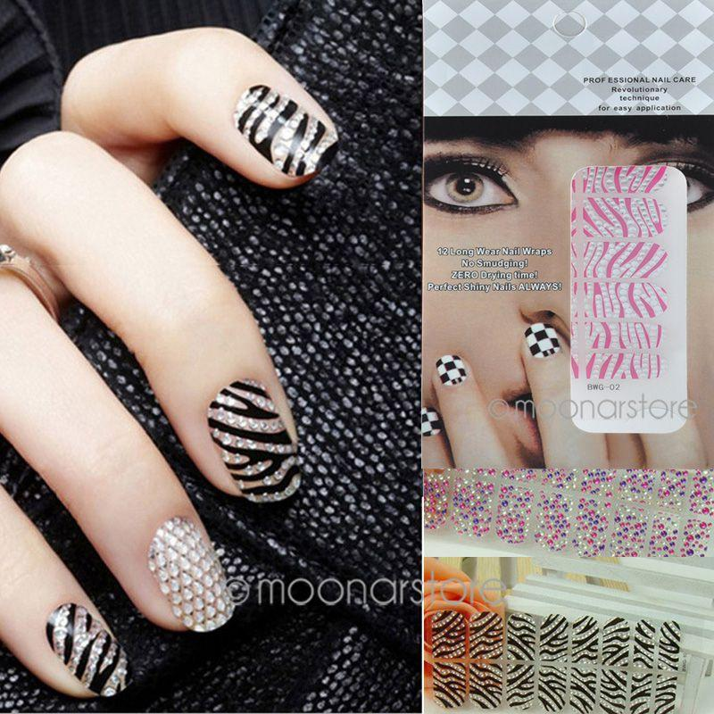 Fashion Korean 3d Nail Art Nail Decals Rhinestone Leopard Stickers ...
