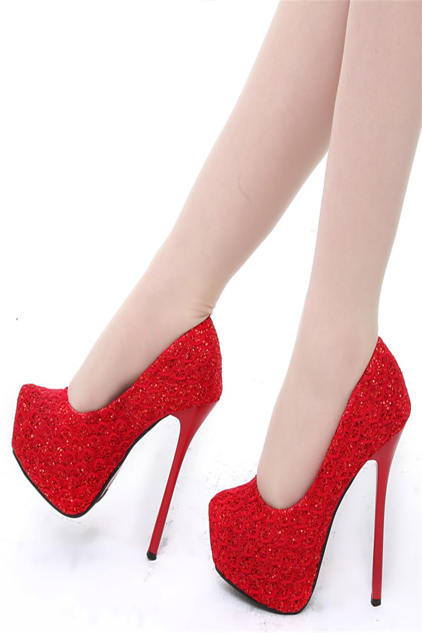 2016 Vintage Lace Wedding Shoes Cheap Best Red Bridal Champagne Women High Heels Size Us 4 9 Dress Flat Ivory Gina