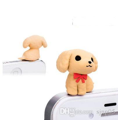 6 Little Puppy Muster Design Abendessen Nette 3,5mm Handy Anti-staub Stecker Headset Stopper Cap Universal Staubstecker Kopfhörer Jack Stecker