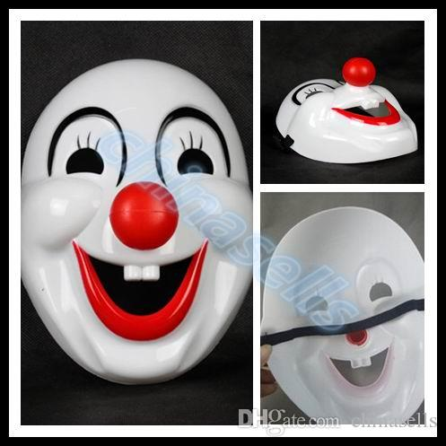 adult kid Halloween Christmas mask party cartoon festival cosplay mask dance performances rigid plastic red nose clown mask props