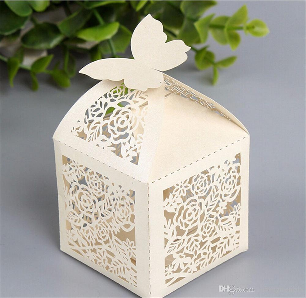 50 PCS Wedding Favor Box Print Laser Cut Paper Bags Small Gift Chocolate Sweet Favors Candy Boxes For Gifts Party Packaging & Best Quality Wedding Favor Box Print Laser Cut Paper Bags Small ... Aboutintivar.Com