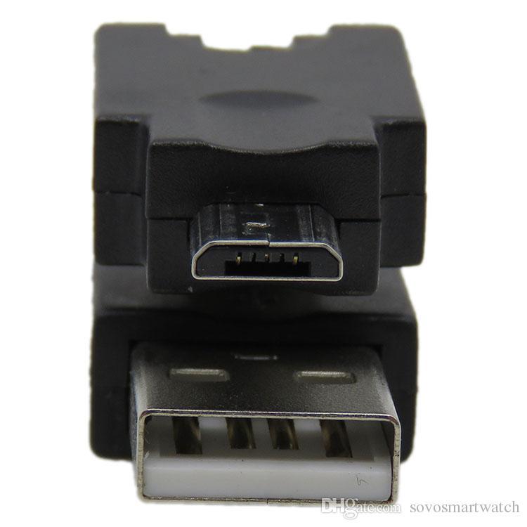 Mini USB a USB 2.0 USB 2.0 Hembra a Mini USB Adaptador flexible de 360 grados para cámara portátil para auto C06S4-1