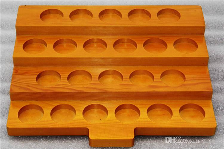 Newest Wooden E Cig Display Showcase Stands Wood Ecig Shelf Case Rack For 10ML 30ML E-Juice E-Liquid Bottles Atomizer Mouthpiece Tank Stands