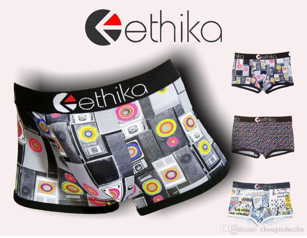 Ethika Men`s underwear boxers brief trunk hip hop rock underwear skateboard street fashion streched premium cotton quick dry