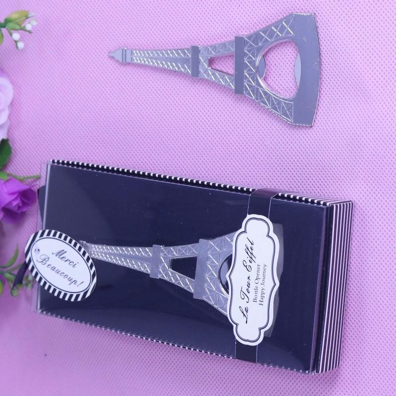 2016 regalos de boda de retorno de la botella de la torre Eiffel de París la despedida de abridor Evento favorece los regalos sorteos mayor
