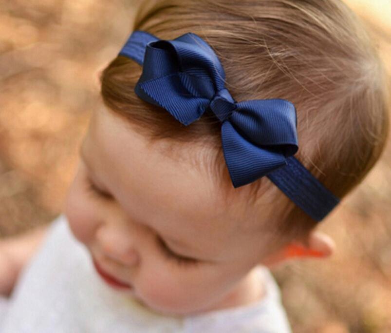 Heißer Verkauf Baby Mädchen Kinder Weiche Stretch bowknot muster Bogen Turban Hairband Haar Gummibänder Kopf Wrap