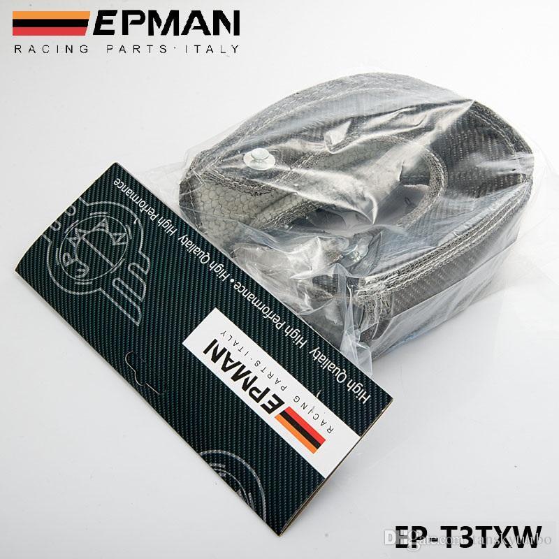TANSKY - EPMAN Koolstofvezel Turbo Deken Warmte Shield Cover Hoge Prestaties voor T3 / GT37 GT30 EP-T3TXW