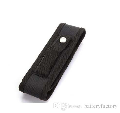 Neue schwarze Nylongürtelholster-Abdeckungs-Tasche für UltraFire C8 E6 E17 A100 501B 502B LED-Taschenlampen-Fackel 301 303 Laser-Stift DHL geben Anlieferung frei