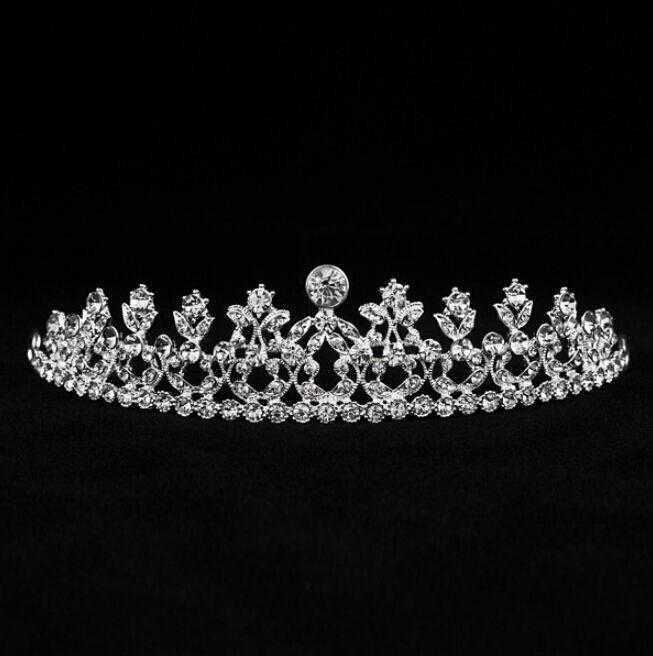 2021 goedkope meisjes tiaras kronen hoofdband haar clips strass sieraden bruids haar bruiloft kroon tiaras kristallen fascinators hoofdband