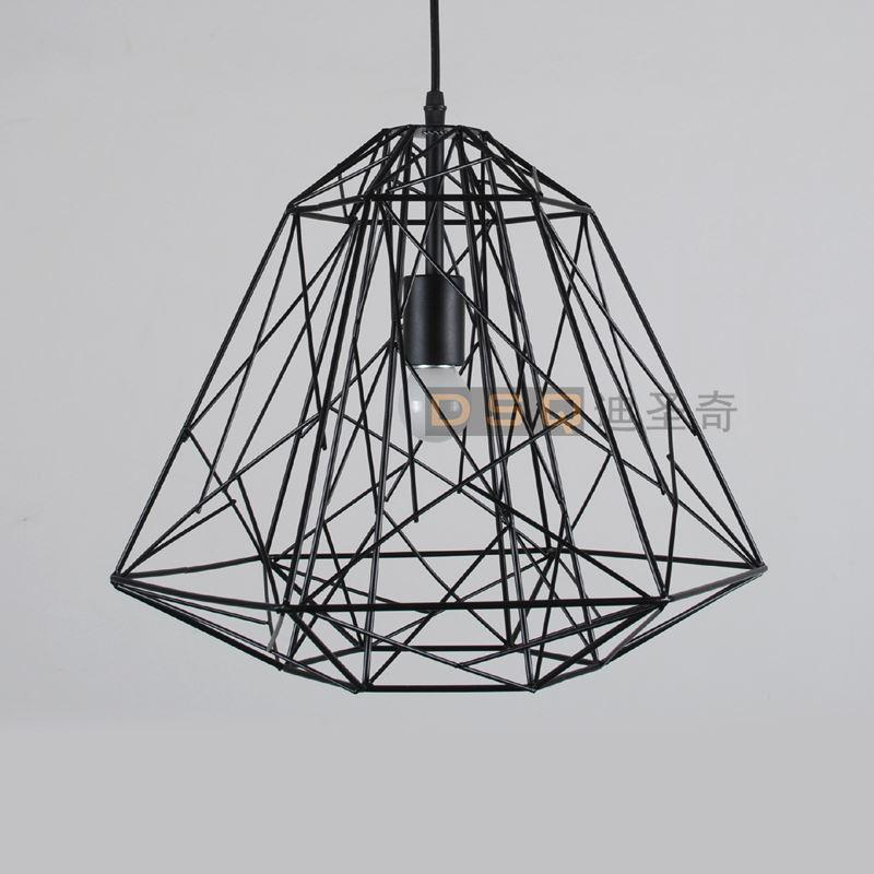 Classic american vintage black and white iron wire cage bird nest classic american vintage black and white iron wire cage bird nest pendant light living room light fashion design crystal chandelier led online with greentooth Gallery