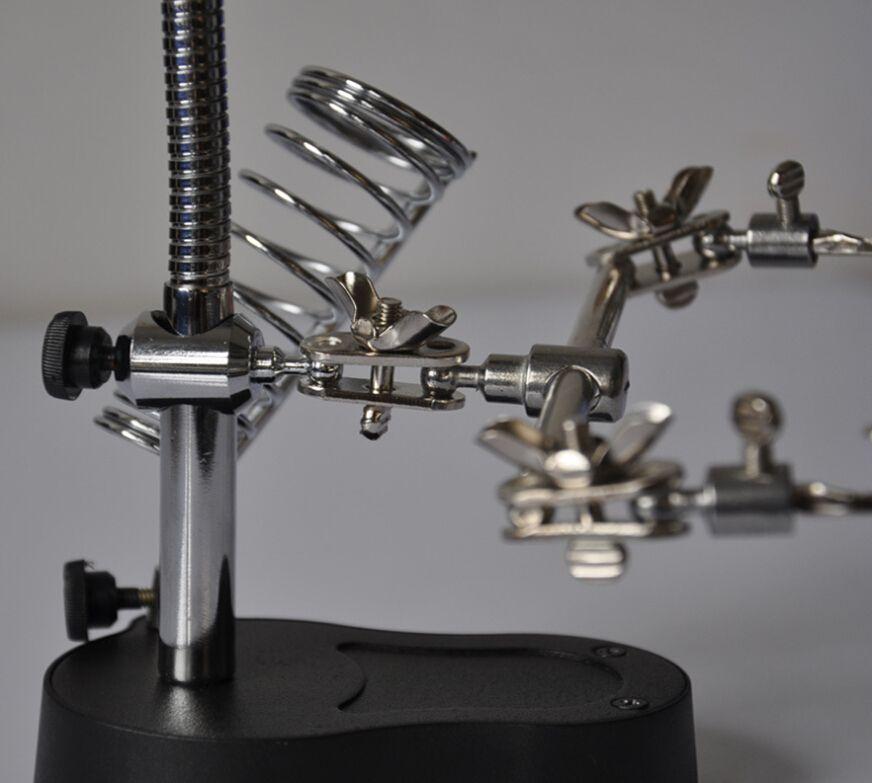 HD со светодиодной подсветкой в 10 раз увеличительное железо 36шт мешок, сварка многофункциональный настольный ремонт увеличительное стекло, подставка электрический утюг