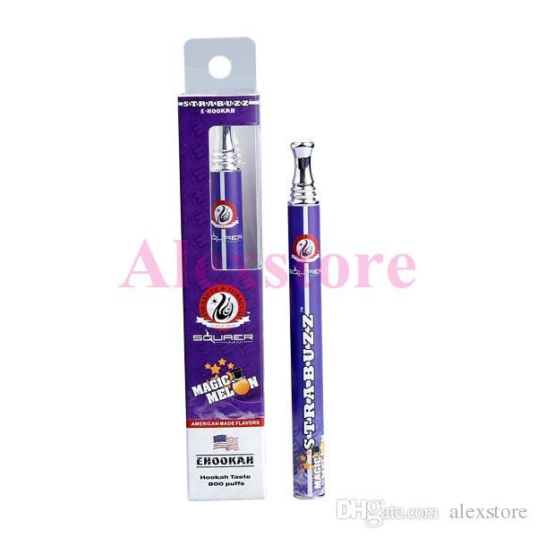 Starbuzz Disposable E-cigarettes 280mAh Ehookah Portable E Shisha 800 Puffs Metal Tip E-hookah E-shisha E cig 14 Flavors New Vaporizer Pen