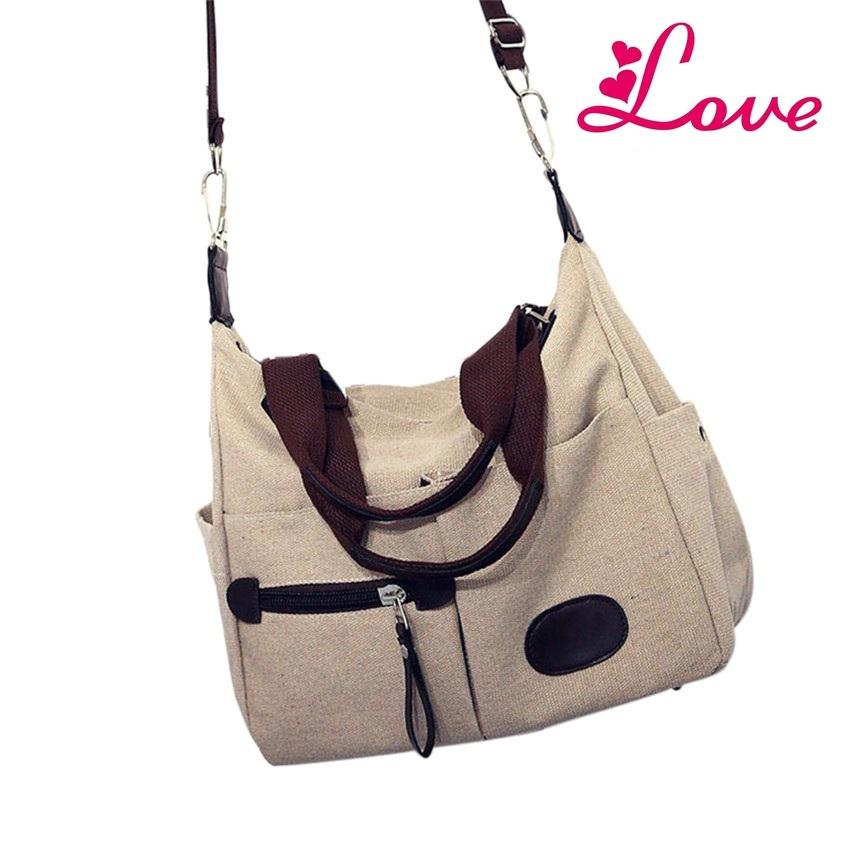 Lucia S Guapabien Women S Casual Handbag Multi Portable Crossbody Shoulder  Bag Retro Canvas Messenger Tote Bag For Girl Travel Schoolbag Ladies  Handbags ... 9df6ad301b1c6