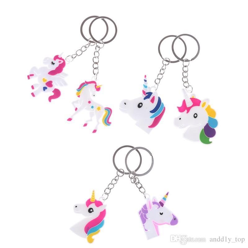 Sıcak satış Unicorn Anahtarlık Anahtarlık Cep Telefonu Charms Çanta Kolye Çocuklar Hediye Oyuncaklar Telefon Dekorasyon Aksesuarı At Anahtarlık toptan