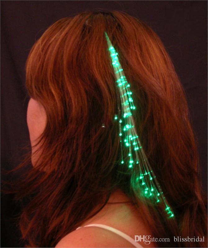 Kolorowe Czarowne Warkocze LED Flash Flash Braid Włosy Dekoracji Włókno Świecące Warkocz Na Halloween Boże Narodzenie Party Wakacje Kwietnia Prima Dni