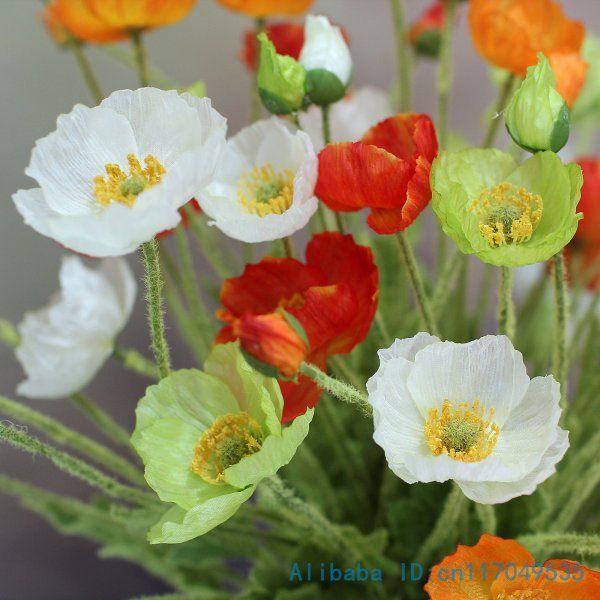 Online cheap beautiful artificial poppy silk flowers home wedding online cheap beautiful artificial poppy silk flowers home wedding decoration gift f263 by elecc dhgate mightylinksfo