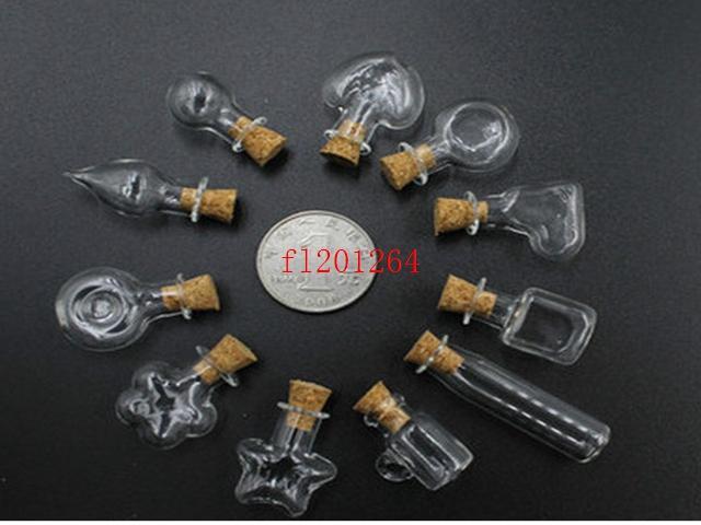 500 шт./лот DHL FEDEX Бесплатная доставка 2 мл мини уникальная форма стеклянная бутылка 2cc ручной работы стеклянные бутылки флаконы банки контейнеры