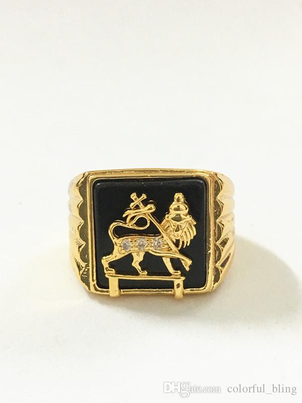 hot sale fashionable and crystal lion ringslion finger ringgold lion of judah ringlion of judah silvergold ring from