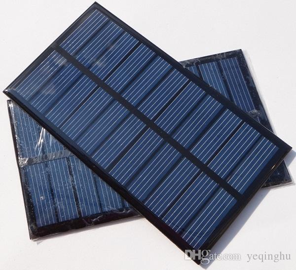 Alta Qualidade 1.6 W 5.5 V Célula Solar Pequeno Painel Solar para Carregador de Bateria DIY Policristalino 150 * 86 MM 10 Pçs / lote Frete Grátis