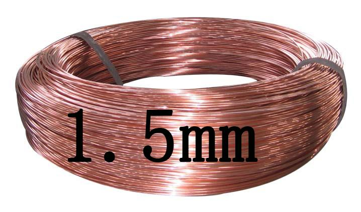 1.5mm,T2 Copper Wire Industry Experiment DIY Materials 10 Meters Red ...