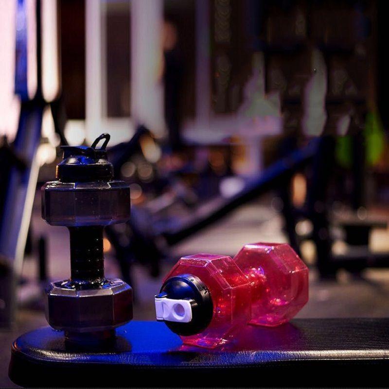 Neue 2.5L Kreative Hantel Shaped Sport Wasser Tasse Wasserkocher Fit Drink Gym Flasche BPA Outdoor Fitness Fahrrad Camping Radfahren Wasserkocher