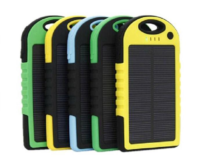 Shockproof Waterproof 12000mAh Solar Charger Battery 2 Ports Solar Panel backup power bank + Flashlight 12000 mah 2-Port Solar Chargers