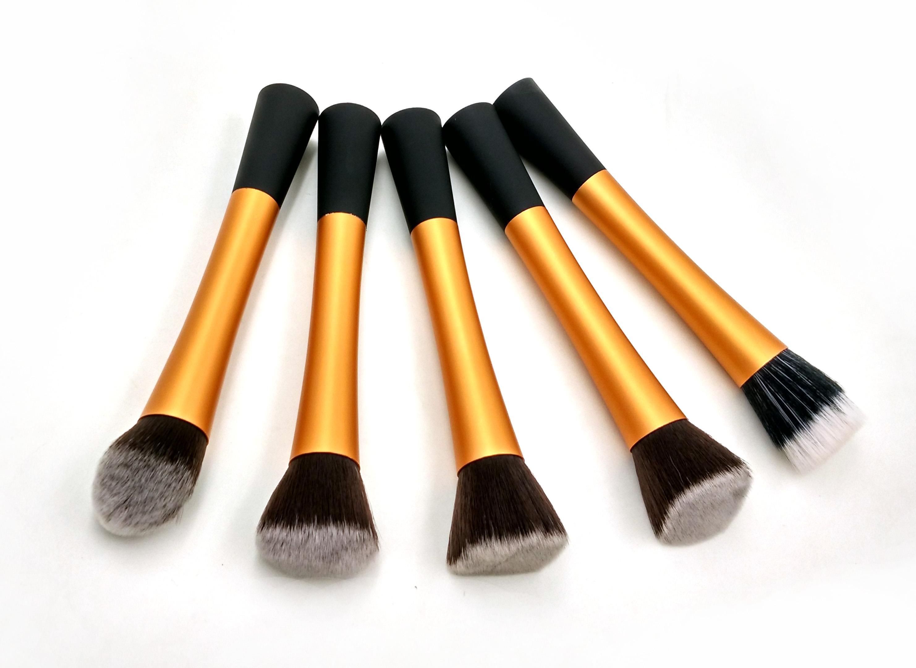 Promotion Makeup Brushes Set Tools Metal Handle Professional Make Up Face Brush Kabuki Brush Facial Care Foundation Brush Best Makeup Foundation Brush Set ...