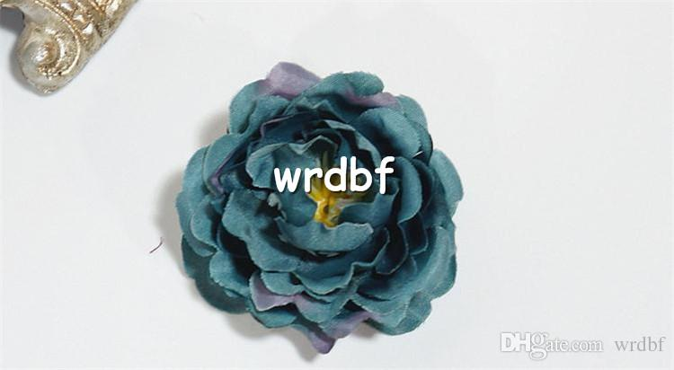"NEW Silk Rose Flower Head Dia. 6cm/2.36"" Artificial Flowers Roses Camellia for DIY Bridal Bouquet Wrist Corsage Wedding Centerpiece"