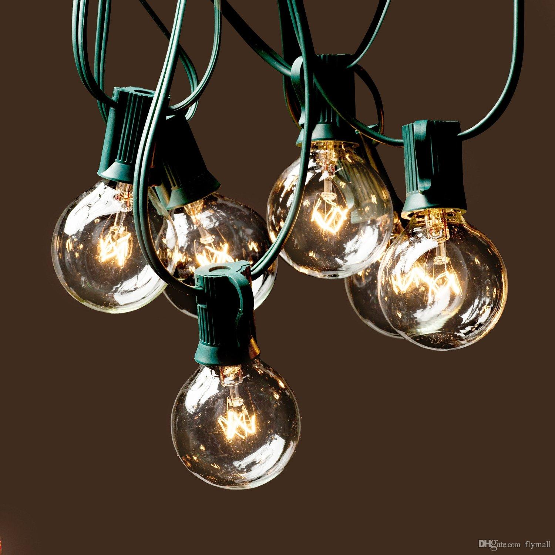 25Ft G40 Globe Luces de cadena con 25 bombillas transparentes Luces de cadena de alta calidad Luces de iluminación perfectas para interiores / exteriores Luz de decoración comercial