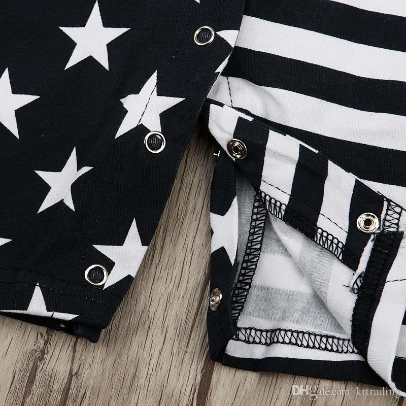 baby striped and stars onesie infants black and white dissymmetry pattern romper cute toddlers outfits for 0-2T