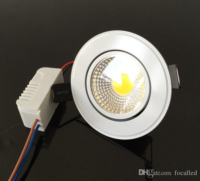 Beyaz kabuk 9 w led koçanı downlight kısılabilir led gömme spot ışık lamba 110-240 v sıcak beyaz 3000 k 120 açı + Led sürücü UL CE