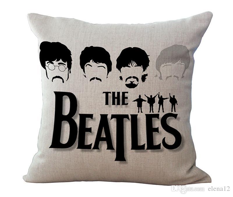 8 tipos Banda de los Beatles Algodón Lino Funda de almohada Fundas de cojines Fundas de almohada Cojines Funda Silla de coche Sofá para el hogar Juego de cama 240380