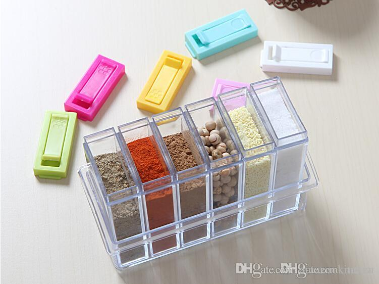 2018 Crystal Seasoning Box Pepper Salt Spice Rack Plastic 6 Box Kitchen See Through Storage Containers 2016 New From Amazonkitchen $306.54 | Dhgate.Com : plastic spice storage containers  - Aquiesqueretaro.Com