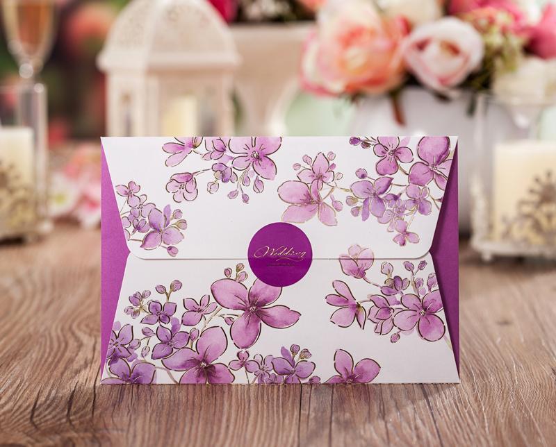 see larger image - Purple Wedding Invitations