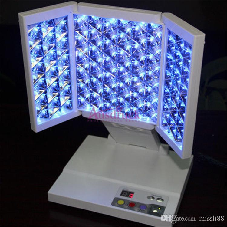 Brand New Blue Red Yellow Led Light Therapy Pdt Facial