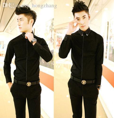 Black and gold dress shirt mens
