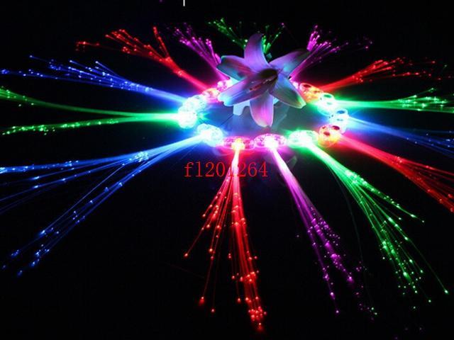 / 무료 배송 LED 가벼운 머리 깜박임 머리 핀 타이어 색 섬유 축광 꼰 크리스마스 축제 바 파티 용품