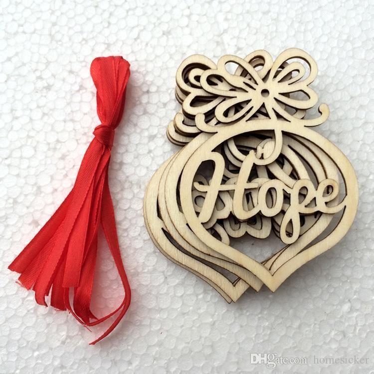 크리스마스 편지 나무 심장 버블 패턴 장식 크리스마스 트리 장식 홈 축제 장식품 매달려 선물 가방 당