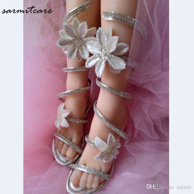 0487 Tailored Snake Shape Women Flat Sandals With Shinning Rhinestones  Fashion Gladiator Flip Flops Girl Trendy Sandals Buy Shoes Online Wedge  Boots From ... bf362aefd004