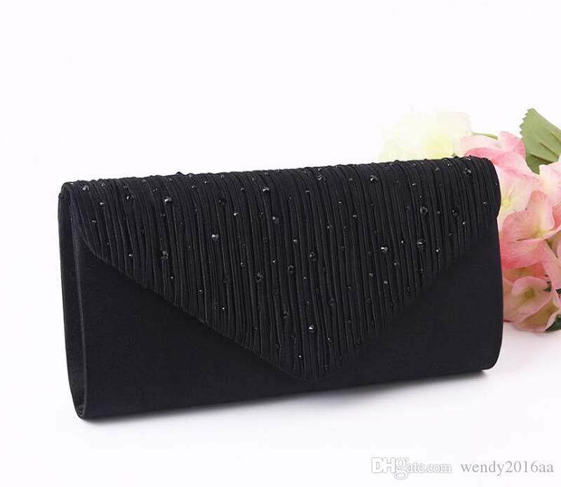 2017 Diomand Abendtaschen Frauen Satin Lange Haspe Clutch Bags Einfache Kosmetiktasche In hochzeit