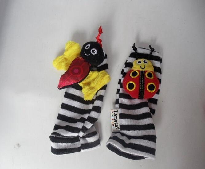 lamaze sock baby rattle baby toys Lamaze Garden Bug Wrist Rattle and Foot Socks Bee Plush toy toddler Infant toys