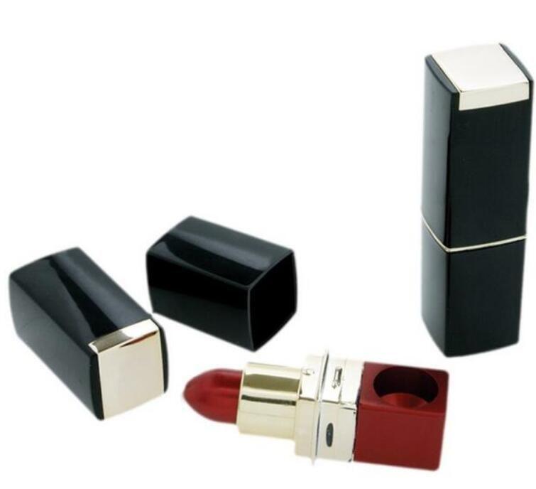 Beliebte Discreet Versteckte Lippenstift Pipe Lippenstift Rohr Tragbare Metall Rauchen Rohre Magie Neuheit Geschenk Für Frau Rot Lila farbe