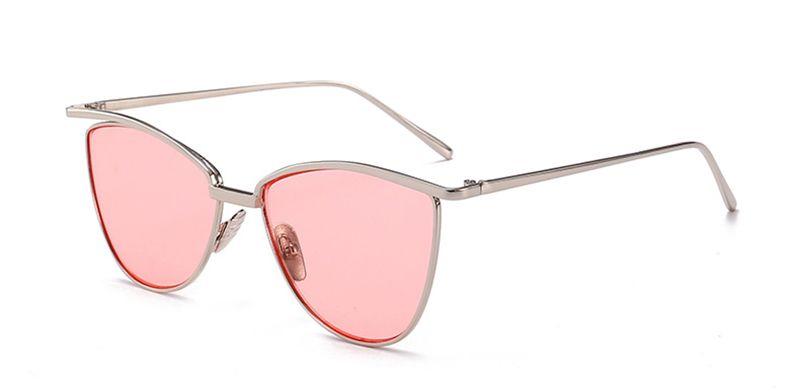 3fba7dd03cfb HOKU GIRL Fashion Brand Designer Sunglasses Women Reflective Mirror ...