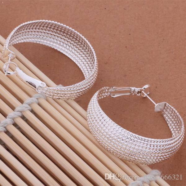 Mode ganska unikt mode smycken tillverkare 20 st Många örhängen 925 sterling silver smycken fabrikspris mode