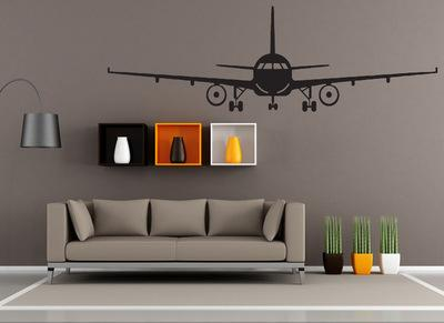Black Airplane Wall Art Mural Decor Sticker Boys Kids Room Wallpaper Decal Poster Transfer Wall Graphic Wall Appique