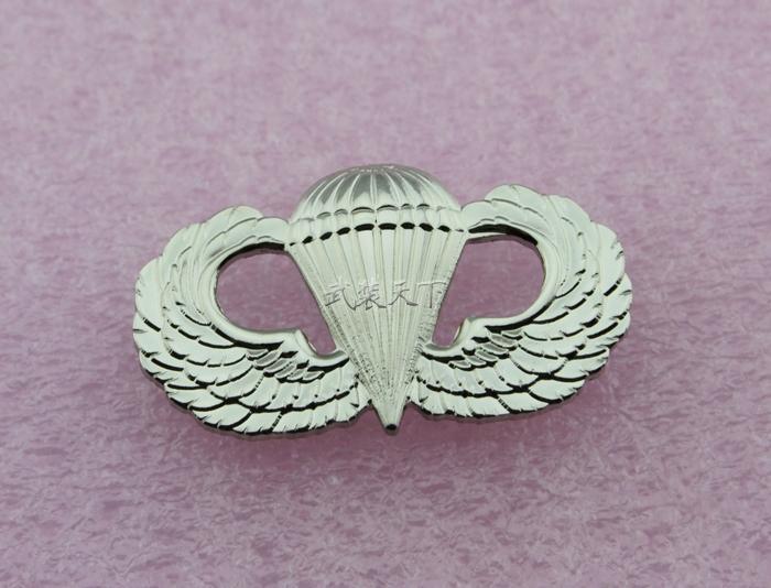 АРМИЯ ВВС США, PARATROOPER PARACHUTIST JAMP WINGS BADGE PIN-код - серебро